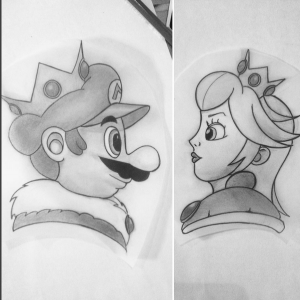 king mario and princess peach