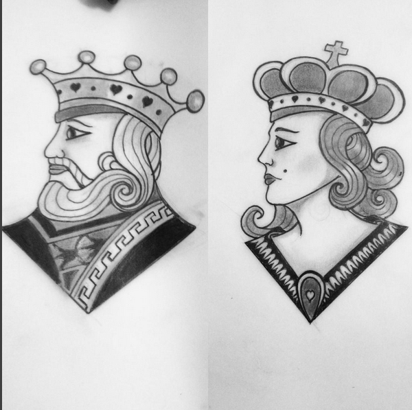 King And Queen Lazyness Tattoo